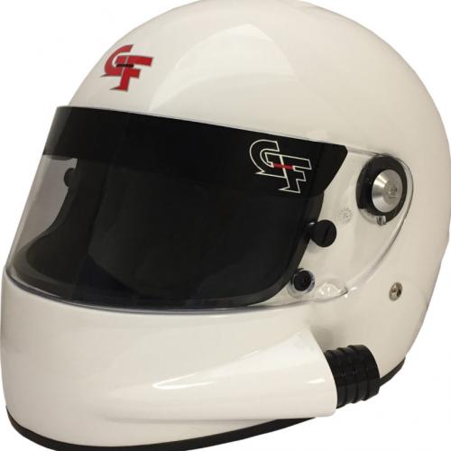 GForce GF7 SIDE AIR FULL FACE WHITE HELMET