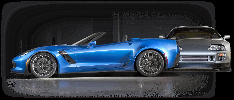 Corvette and Supra